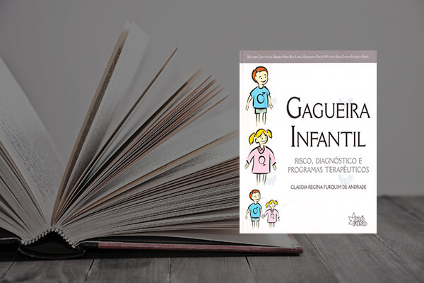 Capa do livro Gagueira infantil: risco, diagnóstico e programas terapêuticos