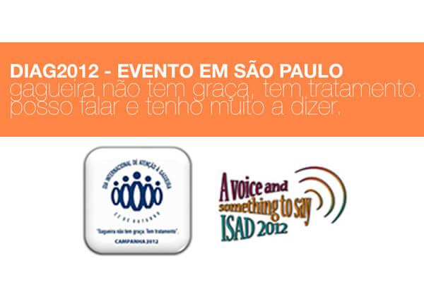 Detalhe da divulgação evento Diag 2012 em São Paulo