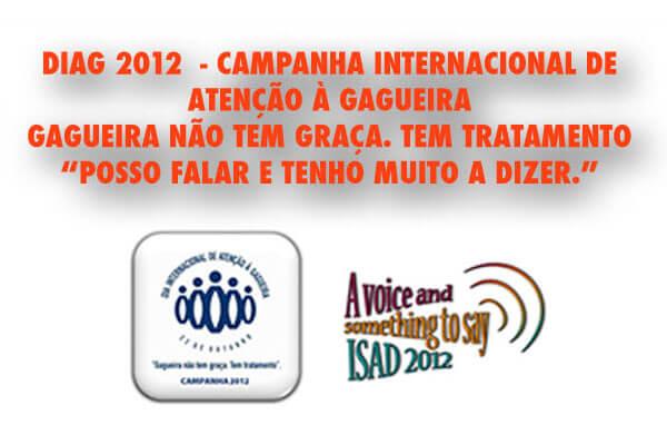 Detalhe do folder A5 da campanha Diag 2012