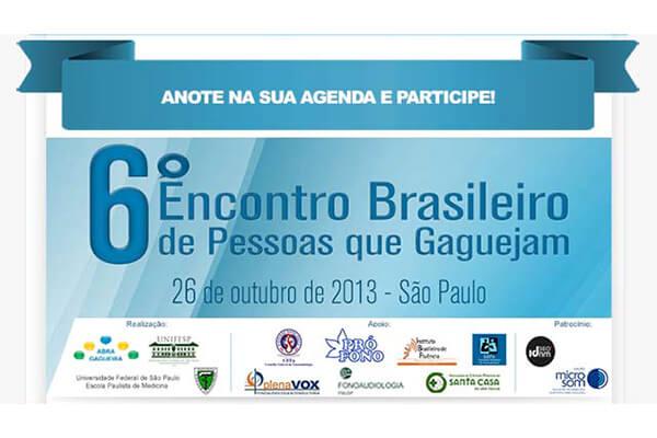 Chamada 6o. Encontro Brasileiro de Pessoas que Gaguejam