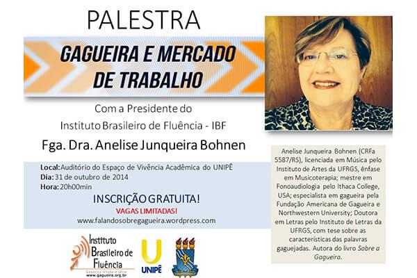 Evento em João Pessoa com participação de Anelise Junqueira Bohnene