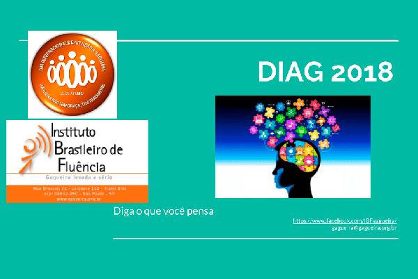 Imagem de folder campanha DIAG 2018