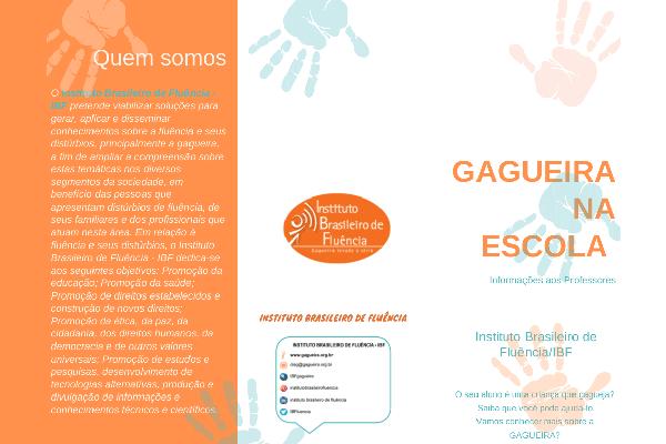 Folder Gagueira Escola