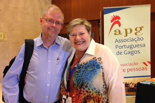 Foto da Dra Anelise Bonhen ao lado de Per Alm