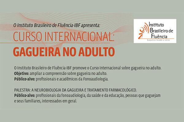 Curso Internacional Gagueira no Adulto