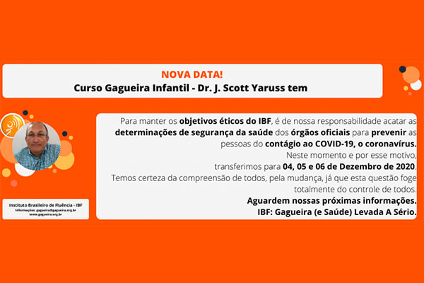 Curso Gagueira Infantil com Dr. J. Scott Yaruss