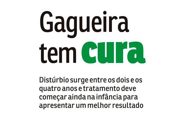 Destaque da matéria no jornal Agora: Gagueira tem cura