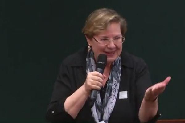 Drª Anelise Junqueira Bohnen, presidente do IBF, fala na Câmara dos Deputados