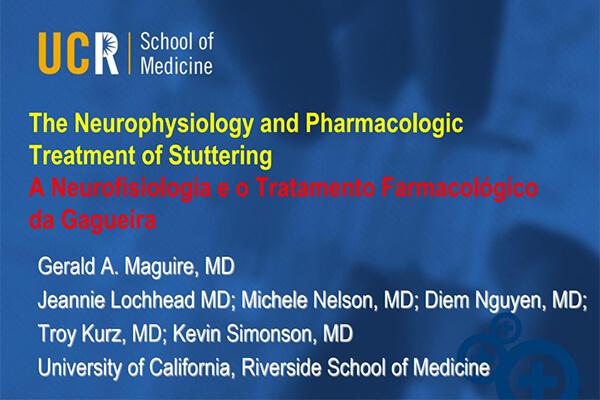 Capa da apresentação da palestra do Dr. Gerald Maguire
