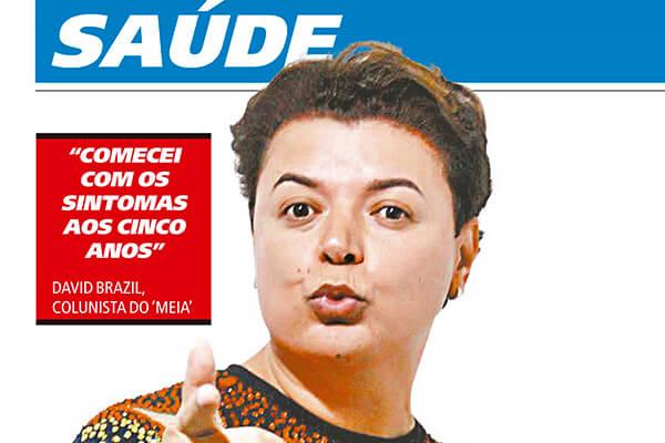 """Foto de David Brazil, colunista do  jornal """"Meia Hora"""""""