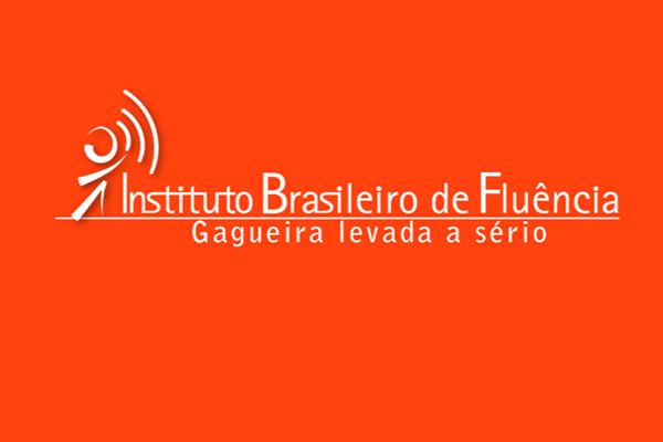 Logotipo IBF branco sobre fundo laranja